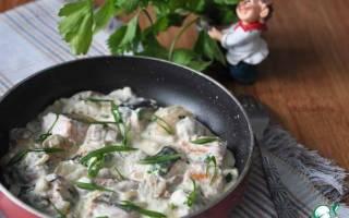 Лосось с грибами — рыбные рецепты