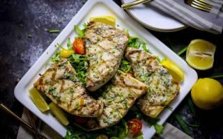 Рыба-гриль с зеленым маслом — рыбные рецепты