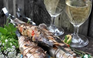 Ряпушка, запечённая на мангале — рыбные рецепты