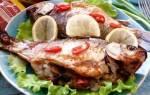 Запеченные караси с рисом и грибами — рыбные рецепты