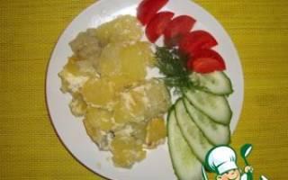 Синец, запечённый с картофелем — рыбные рецепты