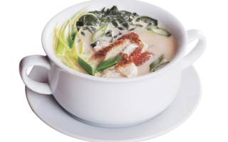 Сливочный суп с угрём — рыбные рецепты