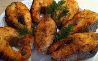 Жареный язь с чесноком — рыбные рецепты