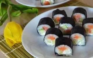 Суши с угрём — рыбные рецепты