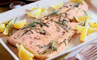 Чавыча, запечённая с зеленью фенхеля — рыбные рецепты