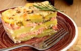Картофельный гратен с лососем — рыбные рецепты